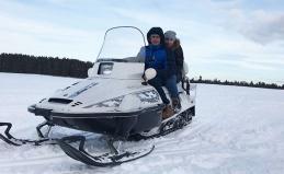 Захватывающие поездки на снегоходах