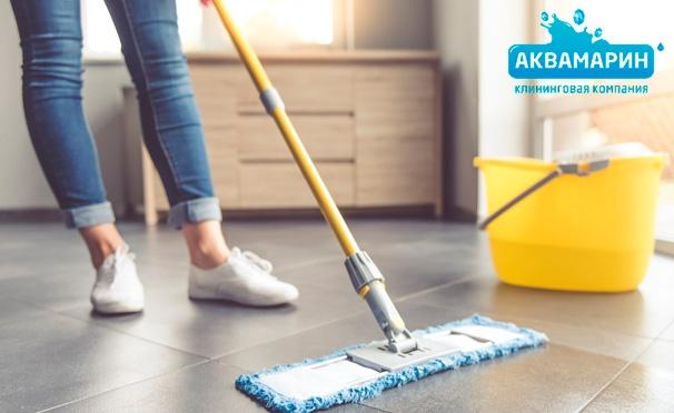 Скидка на Скидка до 78% на услуги клининговой компании «Аквамарин»: комплексная или генеральная уборка помещений площадью до 300 кв. м и мытье окон