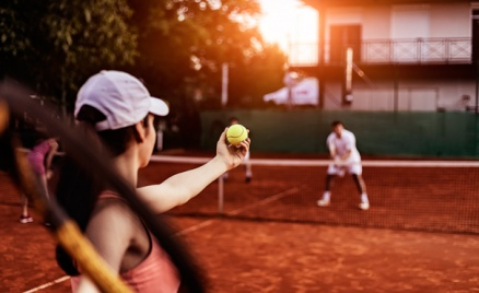 Большой теннис в клубе Maximatennis