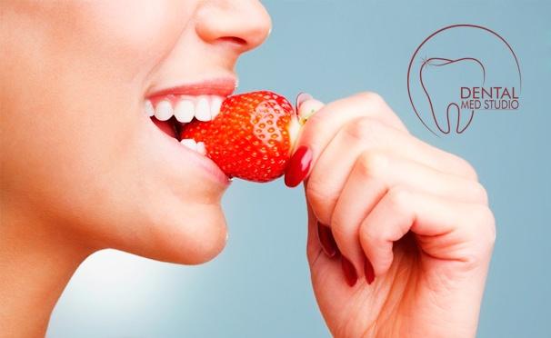 Скидка на Профессиональная гигиена полости рта, отбеливание зубов, лечение кариеса и эстетическая реставрация в клинике Dental Med Studio. Скидка до 86%