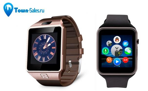 Скидка на Смарт-часы Smart Watch с сим-картой или без для iOS и Android с доставкой от интернет-магазина Town-Sales. Скидка до 72%