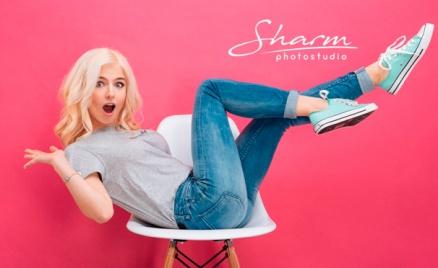 Фотосессия в сети студий Sharm