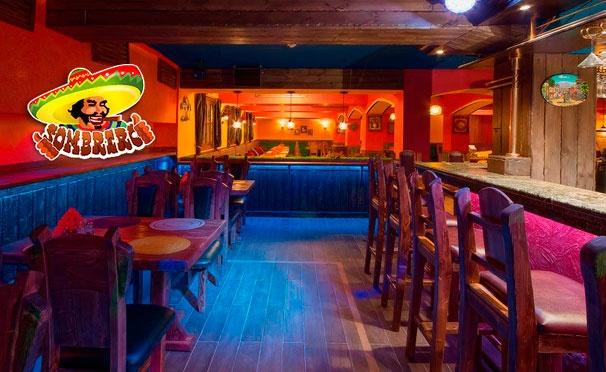 Скидка на Все меню кухни и напитки в мексиканском ресторане Sombrero: буррито, фахитос, тако, закуски, салаты и не только! Скидка 50%