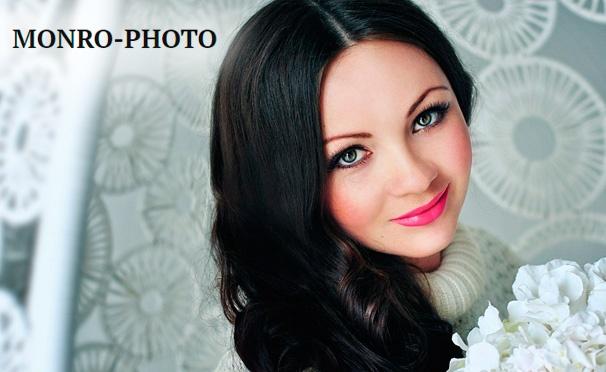 Скидка на Скидка до 95% на профессиональную фотосессию с созданием образа в сети фотостудий Monro-photo