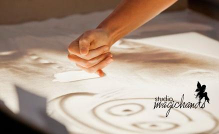 Обучение рисованию песком на стекле