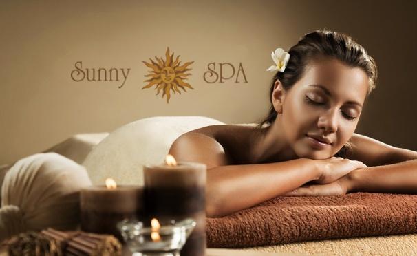 Скидка на До 2 часов тайского массажа или 1,5-часовая спа-программа в спа-центре премиум-класса Sunny Spa. Скидка до 44%
