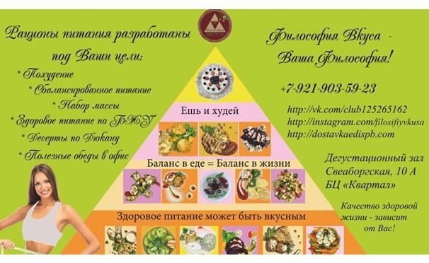 Скидка на Здоровое питание по индивидуальной программе от ателье питания  «Философии вкуса». Ежедневная a80715dbd88