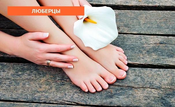 Скидка на Маникюр и педикюр с покрытием гель-лаком и дизайном 2 ногтей в салоне красоты Relax. Скидка до 66%