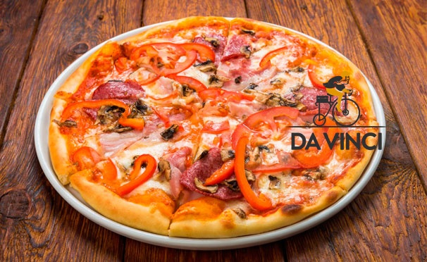 Скидка на Доставка горячих пирогов, хачапури и пиццы на выбор от компании Da Vinci. Скидка 50%