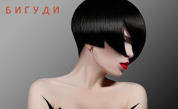 Скидка на Скидка до 76% на стрижку горячими ножницами, кератиновое выпрямление, «Счастье для волос», шатуш, омбре, экранирование и многое другое в сети салонов красоты «Бигуди»