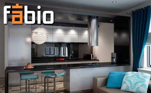 Скидка на Готовые кухни или на заказ с дизайн-проектом от компании Fabio. 6 салонов в Москве! Скидка 40%