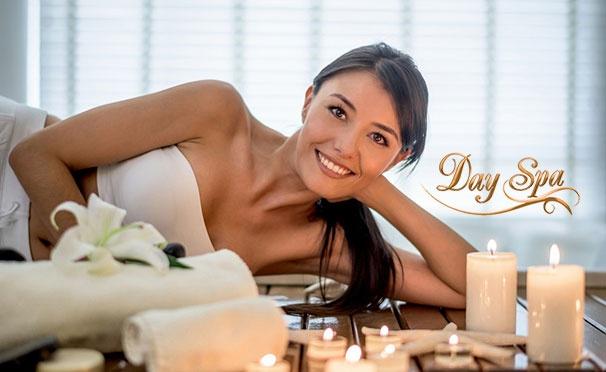 Скидка на Спа-комплексы для одного или компании до 5 человек в салоне красоты Day Spa: горячее обертывание, спа-уход для рук, массаж с использованием теплых аромамасел и другое со скидкой 50%