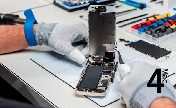 Скидка на Скидка до 50% на услуги сервисного центра 4mac: ремонт аккумулятора и замена дисплея на Apple iPhone и iPad