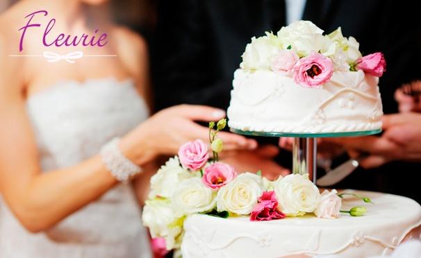 Скидка на Скидка 50% на заказ торта из каталога или по собственному эскизу от кондитерского дома Fleurie