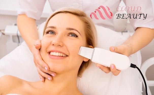 Скидка на Ультразвуковая, механическая или комбинированная чистка лица, RF-лифтинг лица, шеи и зоны декольте, газожидкостный, алмазный или гликолевый пилинг в центре эстетической медицины Cloud Beauty. Скидка до 90%
