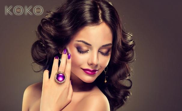 Скидка на Свадебный, дневной или вечерний макияж, праздничная прическа, ламинирование, биозавивка ресниц, коррекция, окрашивание бровей в салоне красоты Koko. Скидка до 83%