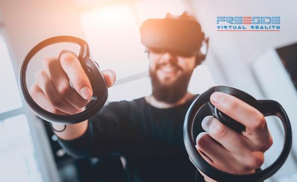 Скидка на Скидка 50% на игру в очках виртуальной реальности в любой день недели в клубе Freeside