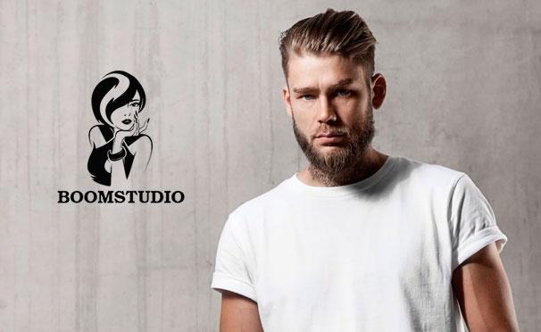 Скидка на Услуги студии красоты Boom: мужская стрижка, окрашивание волос, бритье, оформление и окрашивание бороды. Скидка до 51%