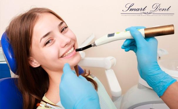 Скидка на Скидка 86% на услуги клиники VIP-класса «Смарт Дент»: профессиональная гигиена полости рта и отбеливание зубов профессиональной системой Zoom-3
