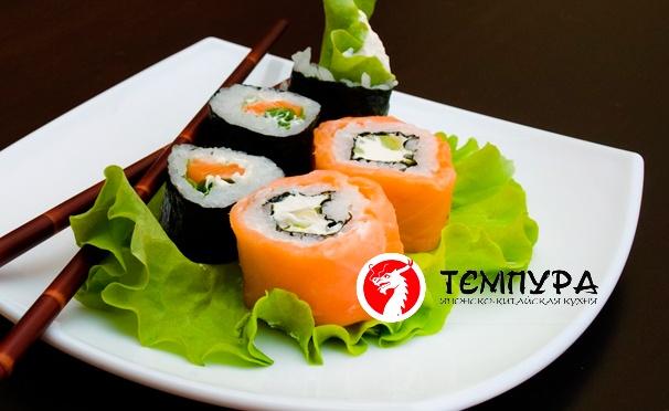 Скидка на До 15 любых наборов роллов от ресторана доставки «Темпура». Скидка до 68%