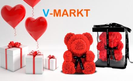 Медведи из роз от магазина V-Markt