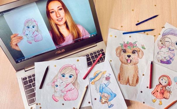 Скидка на Онлайн-обучение рисованию от проекта Art.Online.Yara со скидкой до 52%