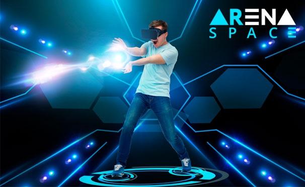 Скидка на Аттракционы виртуальной реальности в сети парков ARena Space: «Моушн VR», «Скала», «Киномодуль 360», «VR Куб» и другое. Скидка до 53%