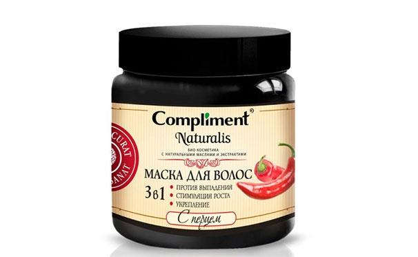 Скидка на Кешбэк 50р. от покупки маски с перцем против выпадения, для стимуляции роста и укрепления волос Naturalis «3 в 1» от Compliment (500 мл)