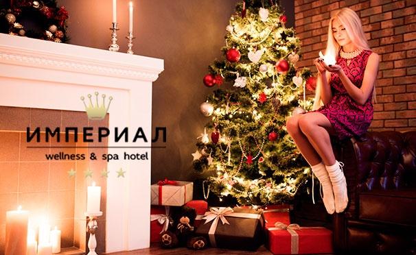 Скидка на От 2 дней для 2 человек в новогодние праздники в отеле «Империал Wellness & Spa» в Подмосковье: питание, бассейн, тренажерный зал, хаммам, сауна, караоке-зал и не только! Скидка 42%