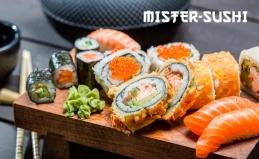 Пицца и роллы от Mister Sushi