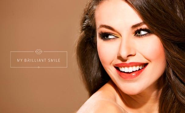 Скидка на Косметическое отбеливание зубов до 16 тонов по американской технологии в студии My Brilliant Smile. Скидка до 54%