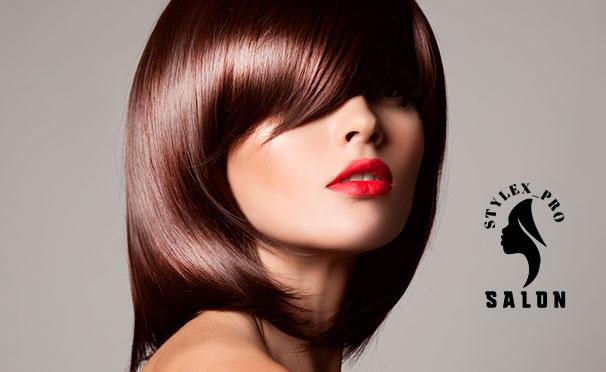 Скидка на Окрашивание, стрижка, нанопластика волос и многое другое в салоне Stylex Pro со скидкой 50%