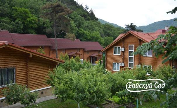 Скидка на От 2 дней отдыха для двоих, троих или четверых в гостиничном комплексе «Райский сад» в Геленджике. Скидка 30%