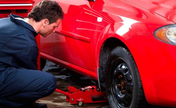 Скидка на Шиномонтаж колес до R18 в шиномонтажной мастерской Tiremaster. Скидка 73%