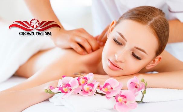Скидка на Спа-ритуалы, спа-свидания и спа-девичники в салоне Crown Thai Spa: тайский массаж, пилинг, обертывание, стоун-терапия и другое. Скидка до 67%