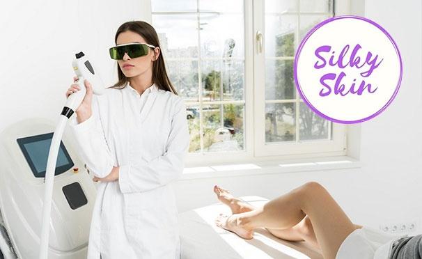 Скидка на Безлимитные абонементы на сеансы лазерной эпиляции в студии красоты «Шёлковая кожа». Скидка до 88%