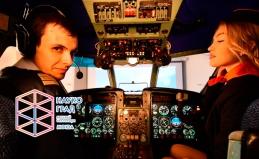 Полет на авиасимуляторе