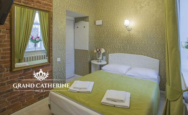 Скидка на Проживание для двоих с завтраками в отеле Grand Catherine Palace Hotel в центре Санкт-Петербурга! Скидка 27%