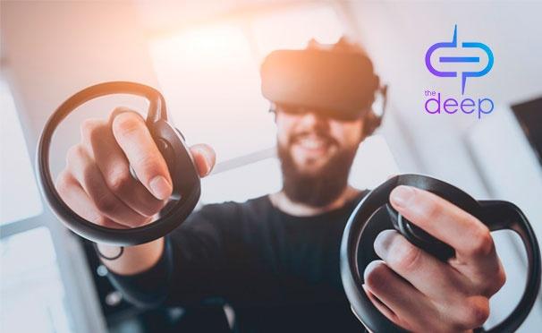Скидка на Скидка до 54% на игры виртуальной реальности и организацию праздника для компании до 15 человек в клубе The Deep