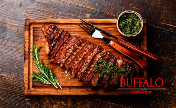 Скидка на Скидка до 50% на банкеты и отдых с любыми блюдами и напитками в кафе-баре Buffalo на «Варшавской»