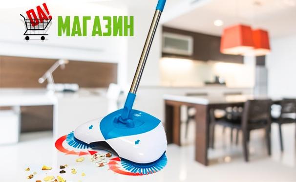 Скидка на Швабра Spin and Go или Rovus Spray Mop с распылителем воды, а также веник Spin Broom от интернет-магазина «Да!». Скидка до 50%
