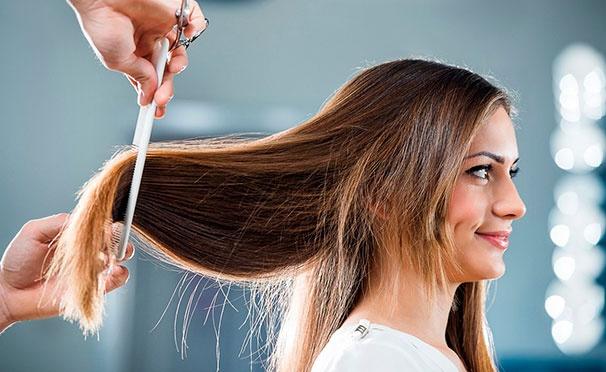 Скидка на Окрашивание в один тон, мелирование, мужская и женская стрижка, термокератиновое питание волос и другие процедуры в салоне красоты TopChik со скидкой до 81%