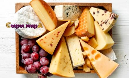 Корзины с сырами и сырными конфетами