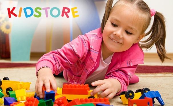 Скидка на Скидка до 50% на детские товары в интернет-магазине KidStore + бесплатная доставка! Тысячи товаров для ухода за ребенком, творчества, учебы и организации досуга!
