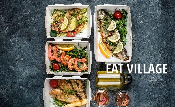 Скидка на Скидка 1000р. на доставку питания на неделю для быстрого похудения по системе Пьера Дюкана от компании Eat Village