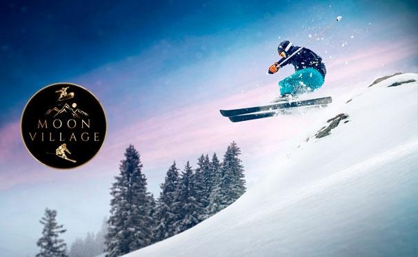 Скидка на Целый день развлечений с безлимитным ски-пассом и прокатом спортивного инвентаря на горнолыжном курорте Moon Village Club. Скидка 50%