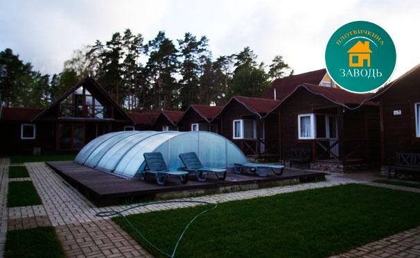 Скидка на От 2 дней проживания в коттедже + питание в комплексе домов «Плотвичкина заводь» на берегу озера Вуокса в Ленинградской области. Скидка 40%