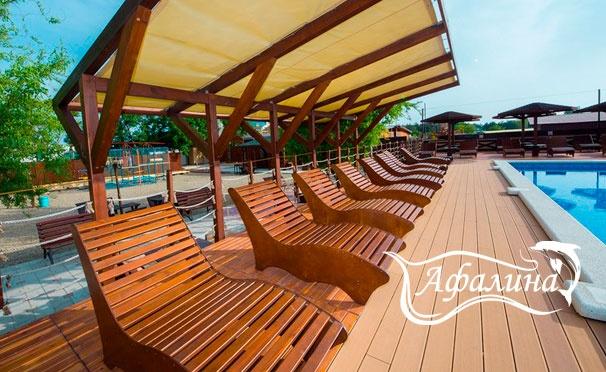 Скидка на От 3 дней проживания с завтраками для компании до 4 человек в туристическом комплексе «Афалина» в Анапе. Скидка до 32%
