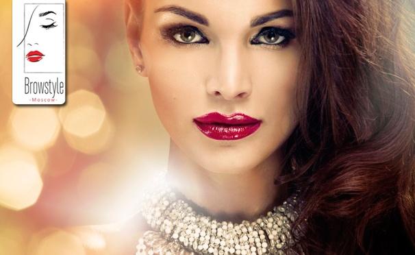 Скидка на Татуаж губ, бровей или век в различных техниках, а также курсы перманентного макияжа на выбор в студии Brow Style Moscow. Скидка до 88%