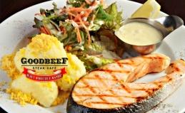 Меню и напитки в стейк-кафе Goodbeef